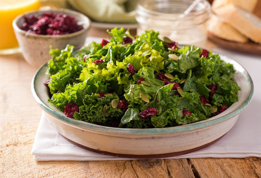 Grünkohl Salat mit Suchtpotenzial
