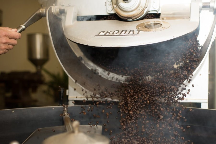 kaffeebohnen röstung