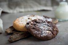 cookies, chocolate cookie, nut cookie