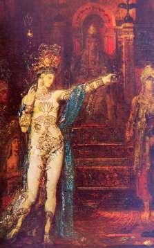 """Tattooed Salome,"" c.1876 by Gustave Moreau."