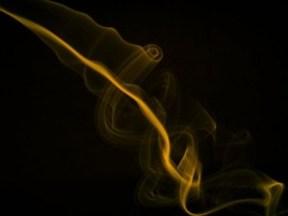"""Gold smoke"" by etafaz on deviantART. (Website link embedded within.)"