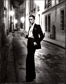 Photo: Helmut Newton, 1975. YSL Smoking.