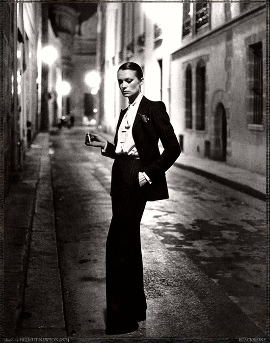 Photo: Helmut Newton, 1975. YSL Smoking.