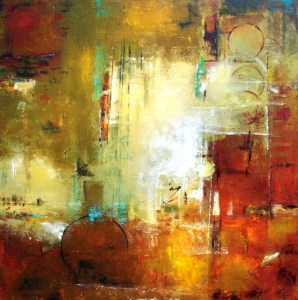 """Bordeaux 2,"" painting by Elizabeth Chapman. Source: dailypaintersabstract.blogspot.com"