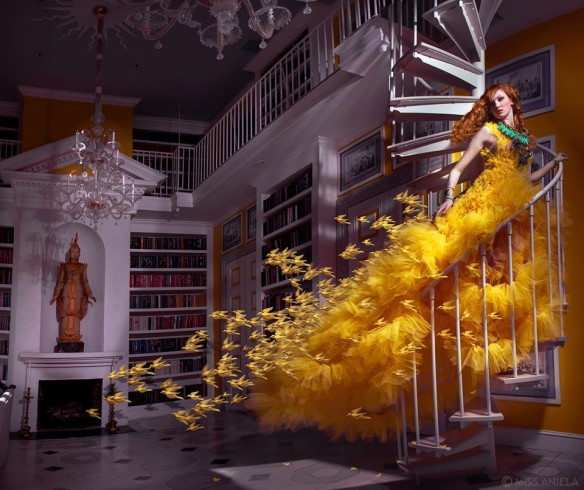 """Mimosa"" ball gown created by Leonid Gurevich. Photo: Miss Aniela Photography. Source: leonidgurevich.blogspot.com"