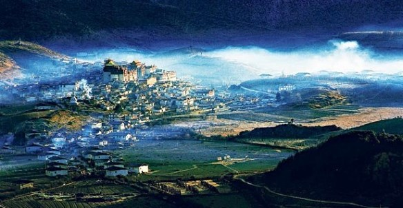 """""""Shangri-La,"""" in China. Source: The Telegraph. Photo cropped."""