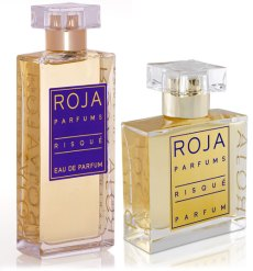 Risque in EDP and Extrait bottles. Source: Fragrantica