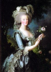 Mary Antoinette by Vigee Le Brun, circa 1783. Source: moda.ru