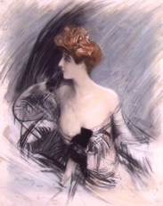 """Portrait of Sarah Bernhardt,"" Giovanni Boldini, 1888, via Wikipedia."