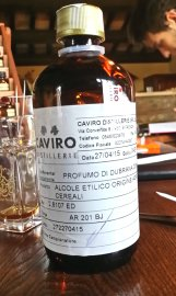 Caviro brand alcohol for perfumery. Caviro is apparently one of the best brands in Italy. Photo: my own.