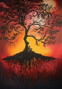"""The Tree of Life."" Original artist unknown. Source: vk.com & Pinterest."