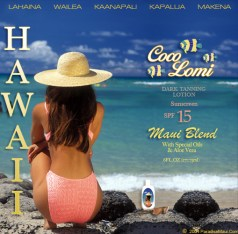 Hawaiian Tropic coconot Coco Lomi. Photo source: paradisemaui.com