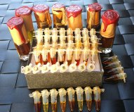 Sultan Pasha Attars, samples and 3 ml bottles. Photo: my own.
