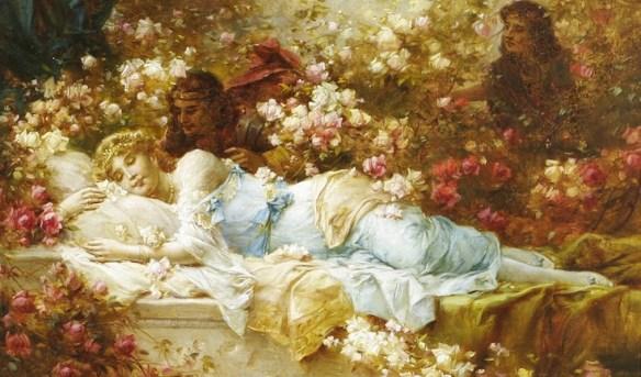 """Sleeping Beauty,"" Hans Zatzka, 1859-1945, via toperfect.com"