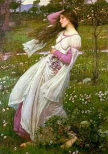 """""""Windswept,"""" John William Waterhouse via Wiki Commons."""