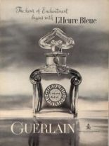 """The hour of enchantment begins with L'Heure Bleue,"" vintage Guerlain ad. Source: Pinterest."