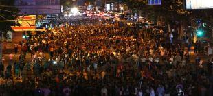 Thousands March In Support Of Gunmen In Yerevan