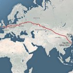 Китай отправил первый грузовой поезд в Лондон по новому Шёлковому пути