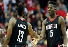 Clint Capela n'accompagnera pas James Harden au All Sta Game. [Christian Smith - Keystone]