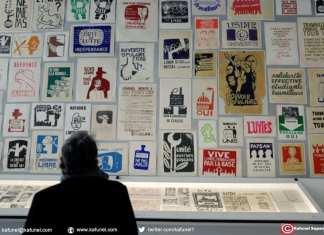 Mai 68 fut un fertile créateur de slogans mais aussi un grand générateur d'images: affiches, peintures, photographies, tracts sont exposées aux Beaux Arts à Paris