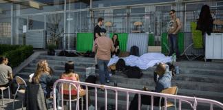 Blocage de la faculté de Nanterre, le 18 avril 2018
