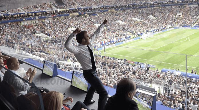 Emmanuel Macron était en feu — Alexei Nikolsky/AP/SIPA