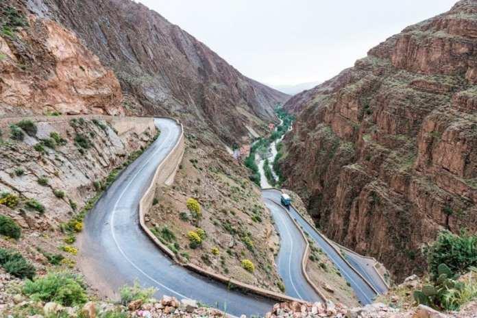 7. LES GORGES DE DADÈS (MAROC) - À l'est de Marrakech dans le Haut Atlas