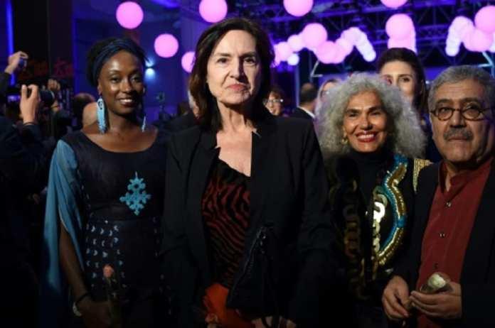 Deborah Young et des membres du jury des 29èmes journées cinématographiques de Carthage (JCC) ouvertes le 3 novembre 2018 à Tunis | AFP | FETHI BELAID