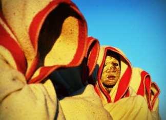 Des garçons lors d'un rite de circoncision en Afrique du Sud