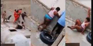 Les images choquantes de femmes Africaines en train de s'échapper de leur lieu de…