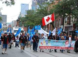 Défilé de la fête du Travail, à Toronto, le 4 septembre 2011.