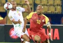 Le Béninois Jordan Adéoti et le Ghanéen André Ayew.