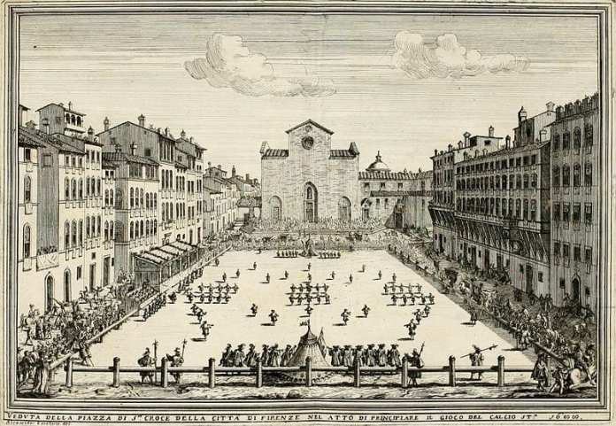 Terrain de calcio florentin, en 1688.
