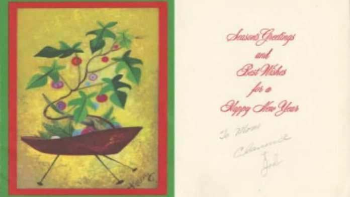 30. Une carte de Noël