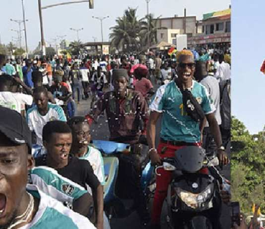 A Dakar, des supporteurs enthousiastes prennent date pour une victoire finale des Lions