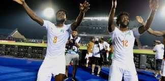 La joie des Ivoiriens après leur victoire face aux Maliens, en huitièmes de finale de la CAN 2019. Pierre René-Worms/RFI