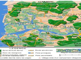 Carte de la Basse-Casamance