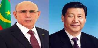 Le Président de la République félicite son homologue chinois