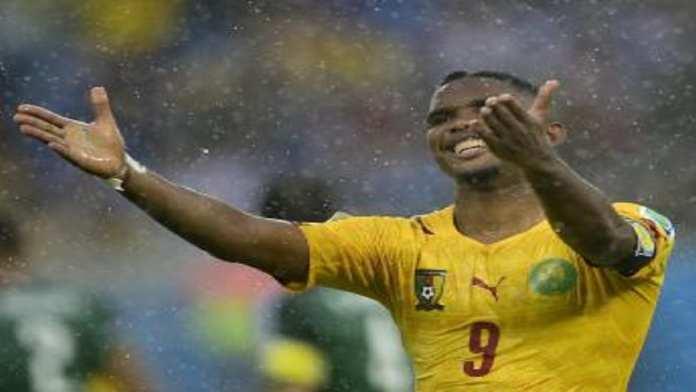 Samuel Eto'o lors de la piteuse Coupe du monde 2014 du Cameroun.