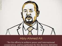 Le prix Nobel de la paix 2019 décerné à Abiy Ahmed, le Premier ministre éthiopien