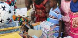 Dons de Fournitures scolaires de la Commune de Fatick aux écoles