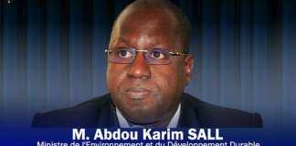 Abdou Karim Sall, ministre sénégalais de l'Environnement et du Développement durable