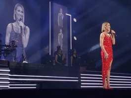 Céline Dion sur la scène de l'American Airlines Arena à Miami le 17 janvier 2020. Capture d'écran / Youtube