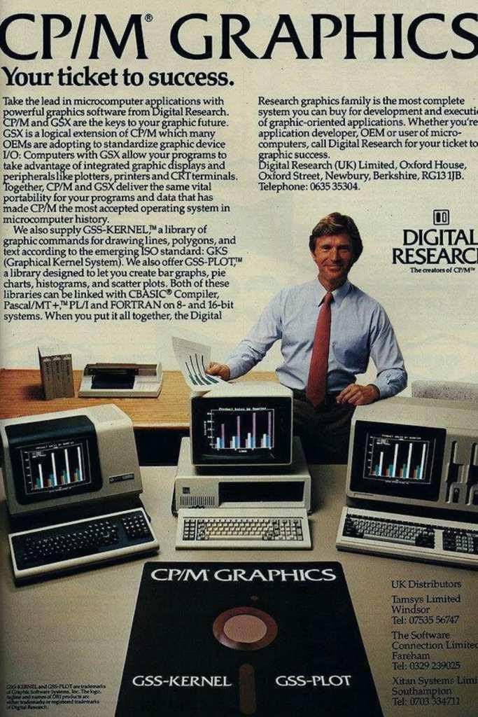 Une publicité de CP / M en 1982 (source: en.wikipedia.org )