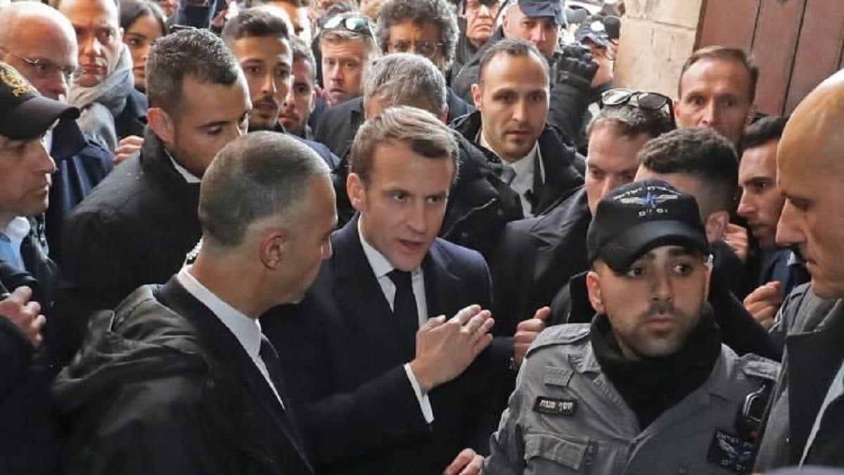 Incident à Jérusalem entre Emmanuel Macron et les forces israéliennes