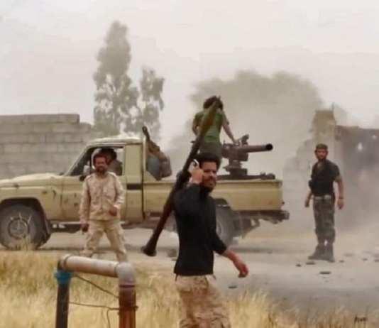 Image extraite d'une vidéo de la page Facebook de la Division d'information sur la guerre de l'Armée nationale libyenne autoproclamée de Khalifa Haftar. (Photo d'illustration) AFP / LNA WAR INFORMATION DIVISION