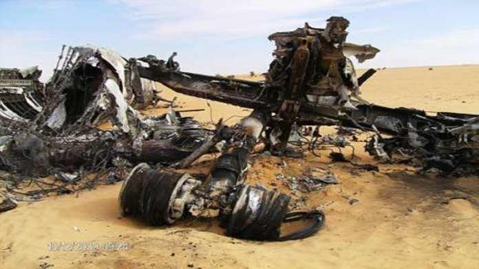 La carcasse dans le désert malien d'un boing 727, qui transportait de la cocaïne en provenance d'Amérique du sud, novembre 2009. RFI / Serge Daniel