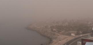Nuage de poussière dans tout Dakar