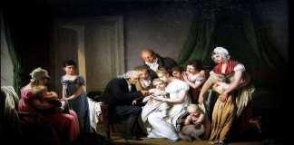 L'Inoculation par Louis Léopold Boilly (1807).