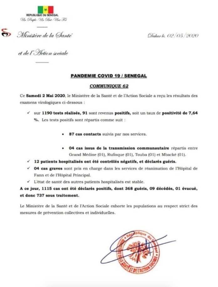doc-coronavirus-02-52-2020_10_52_50 - Coronavirus au Sénégal 91 nouveaux tests positifs et 4 cas graves en réanimation